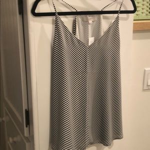 NWT LOFT Stripped Racerback Blouse